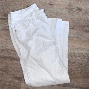 Cropped White Pants